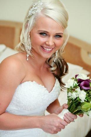 Свадебный макияж для блондинок с голубыми глазами, красивый свадебный макияж для голубых глаз