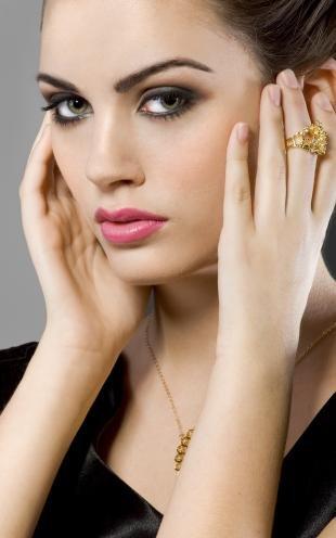 Свадебный макияж для брюнеток с зелеными глазами, дымчатый вечерний макияж для серо-зеленых глаз
