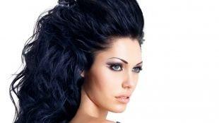 Объемные прически на длинные волосы, прическа с распущенными волосами и высоким начесом