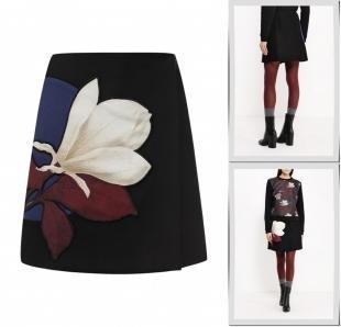 Черные юбки, юбка sportmax code, осень-зима 2016/2017