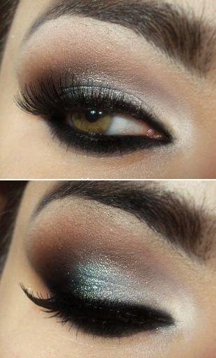 Темный макияж для зеленых глаз, завораживающий макияж смоки айс