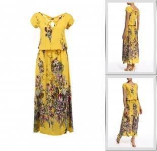 Желтые платья, платье madam t, весна-лето 2015
