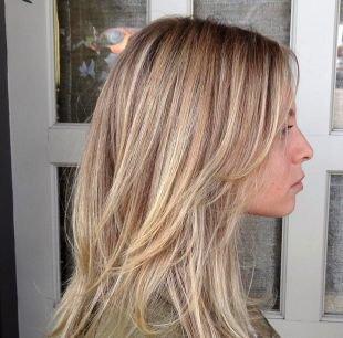 Мелирование на светлые волосы на средние волосы, мелирование на русые волосы