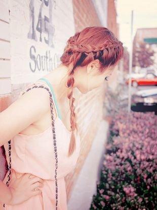 Прически с плетением, коса в виде каната