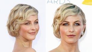 Свадебные прически с челкой, макияж для голубоглазых блондинок