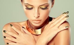 Золотой макияж, макияж в золотой гамме