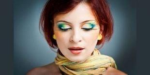Макияж для рыжих с зелеными глазами, фантазийный макияж глаз