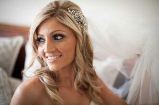 Свадебный макияж в серых тонах, очаровательный свадебный макияж для карих глаз