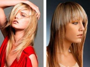 """Медовый цвет волос, стрижка для тонких волос """"лесенка"""""""
