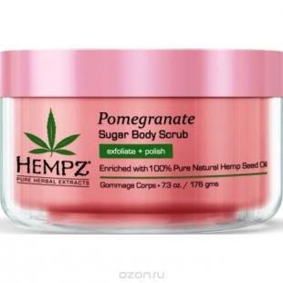 Скраб из сахара, hempz скраб для тела сахар и ганат sugar and pomegranate body scrub 176 г