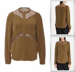 Хаки блузки, блуза vero moda, осень-зима 2016/2017