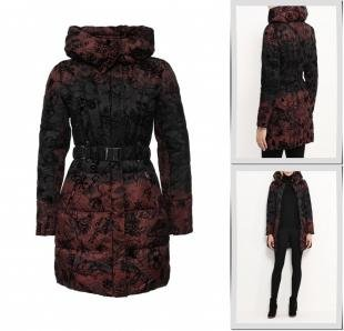 Бордовые куртки, куртка утепленная desigual, осень-зима 2016/2017