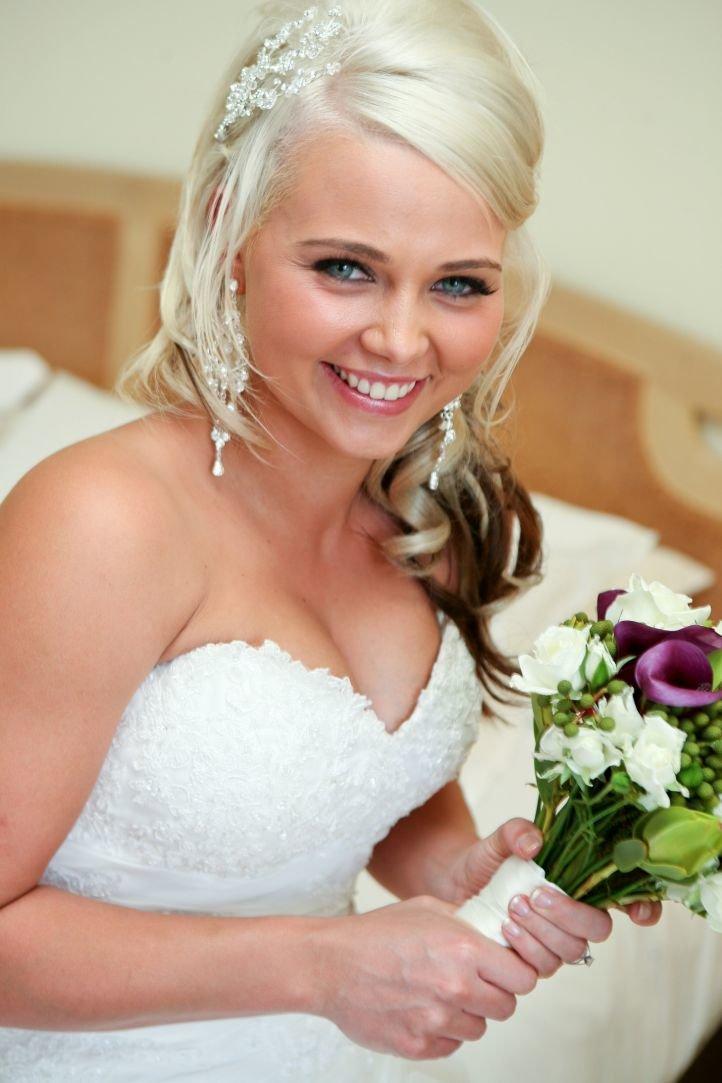 Свадебный макияж для голубых глаз