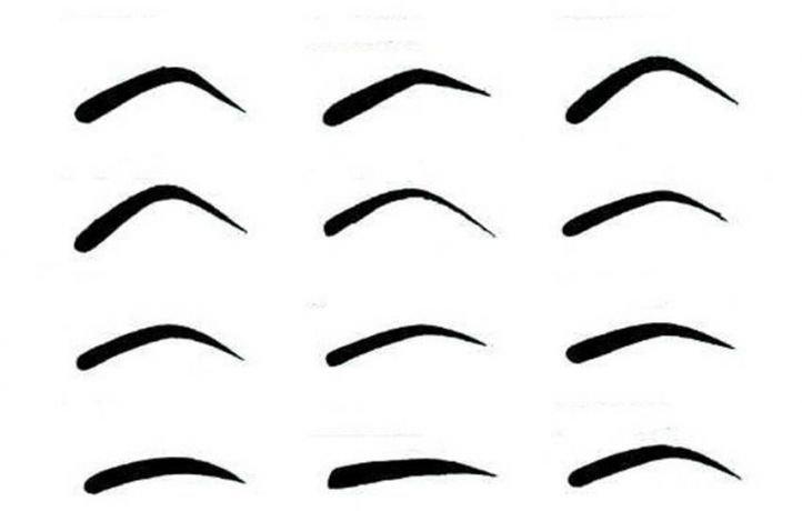 Вариации форм бровей
