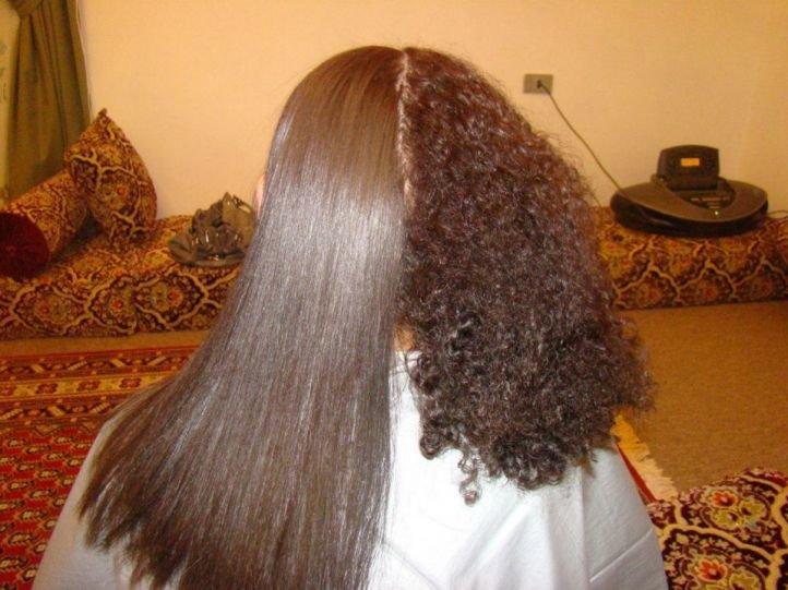Биоламинирование волос до и после