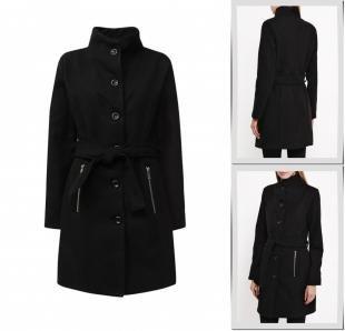 Черные пальто, пальто утепленное perfect j, осень-зима 2016/2017