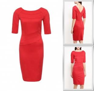 Красные платья, платье gloss, осень-зима 2016/2017
