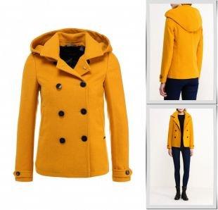 Горчичные пальто, пальто maison scotch, осень-зима 2015/2016