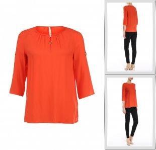 Оранжевые блузки, блуза baon, весна-лето 2016