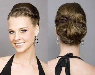 Прически с плетением на выпускной на средние волосы, оригинальная прическа с косами на выпускной