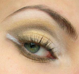 Макияж для зеленых глаз, золотистый макияж смоки айс