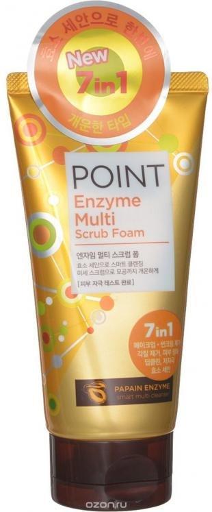 Эффективный скраб для лица, point пенка-скраб для умывания с папайей 150 г (для всех типов кожи)