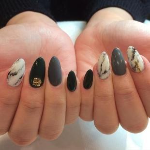 Мраморный маникюр, мраморный дизайн ногтей