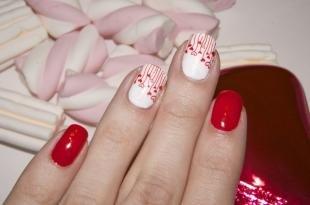 Рисунки на красных ногтях, маникюр для романтического свидания