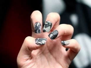 Рисунки на ногтях шеллаком, маникюр шеллак с кружевом