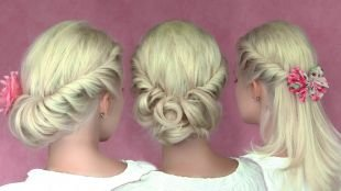 Греческие прически, оригинальные прически на средние волосы