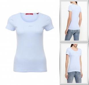 Голубые футболки, футболка s.oliver, весна-лето 2016