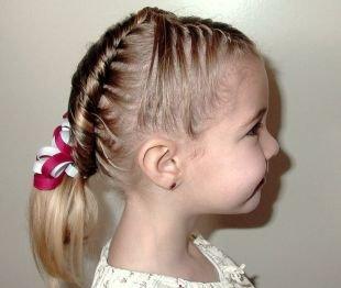 """Прически с плетением на выпускной на средние волосы, детская прическа на выпускной в технике """"канат"""""""