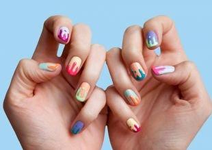 Маникюр на квадратные ногти, красивые идеи маникюра с покрытием шеллаком