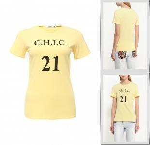 Желтые футболки, футболка chic, весна-лето 2016