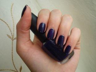 Идеальный маникюр, синий маникюр на коротких ногтях