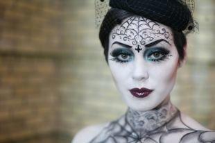 """Макияж ведьмы на хэллоуин, макияж на хэллоуин """"женщина-паук"""""""