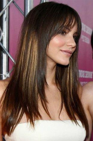 Мелирование на темные волосы на длинные волосы, брондирование на темные волосы