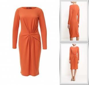 Оранжевые платья, платье madam t, осень-зима 2016/2017