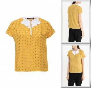 Желтые блузки, блуза befree, осень-зима 2016/2017