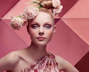 Нежный макияж, весенний макияж для круглого лица